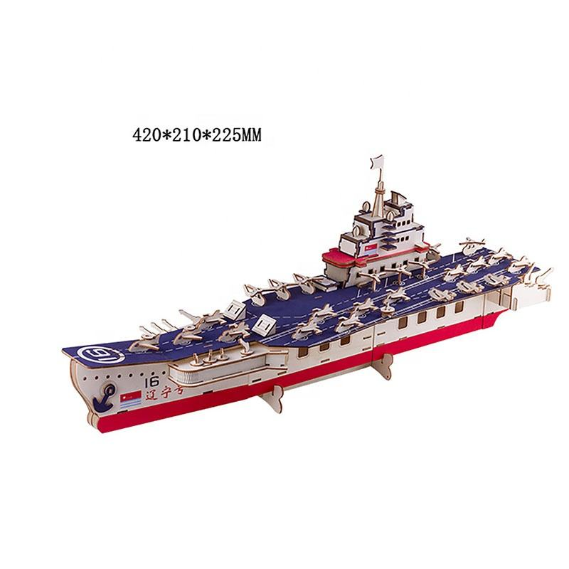 High Quality Wholesale 3D wooden puzzle Ship model jigsaw puzzle wooden DIY craft kIt for Home Decoration or teen