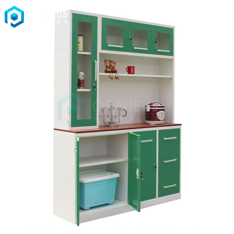 Living Room home kitchen cupboard furniture steel cabinet for kitchen