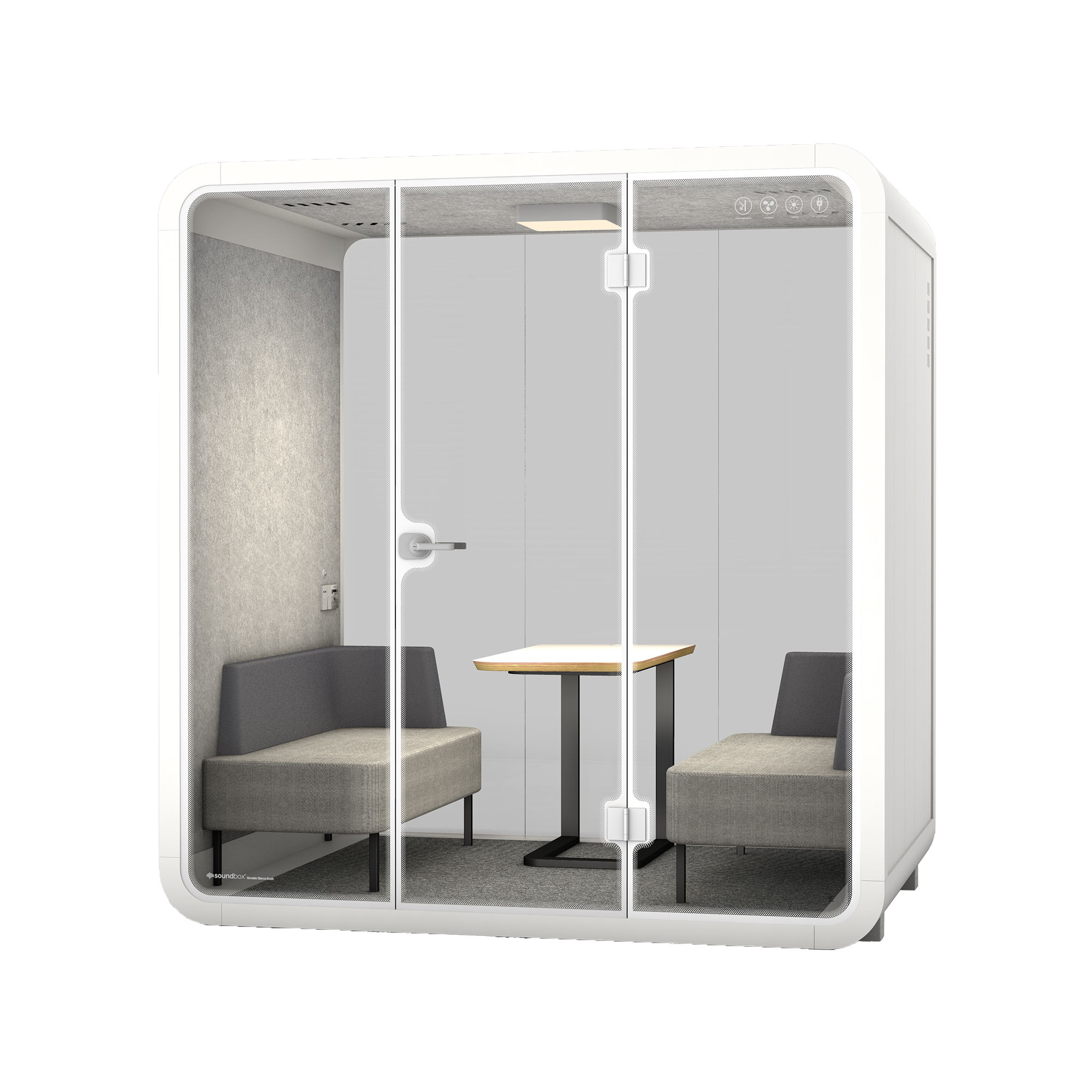 High quality office privicy soundproof private 4 seater meeting pod