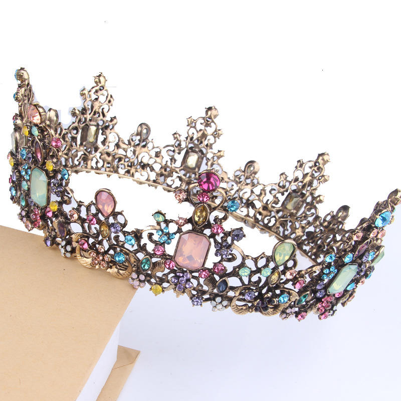 Brillante di cristallo della lega di oro diademi di cerimonia nuziale della principessa corona di capelli accessorio di Bellezza Della Regina Corone Pageant wedding Bridal Tiara crown