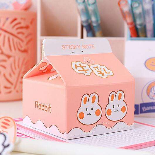 Writing Pads Creative Milk Box Sticky Notes