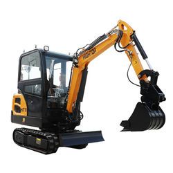 Boom swing 2ton mini excavator small excavation equipment micro digger for construction work