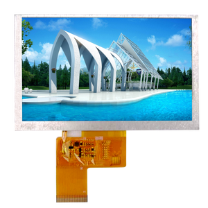 5 inch 800*480 full color TFT LCD display module with FPC 24 bit TTL IC ILI5960 or ILI6122 300 TYP luminance 6 oclock