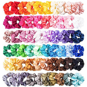 Hot Selling Girl Scrunchies Accessories Girl Elastic Scrunchy Hair Ties Silk Satin Scrunchies For Girls