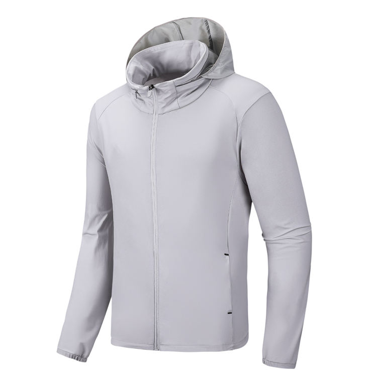 Summer outwear clothing men's coat new outdoor fishing suit breathable sports skin windbreaker hooded jacket