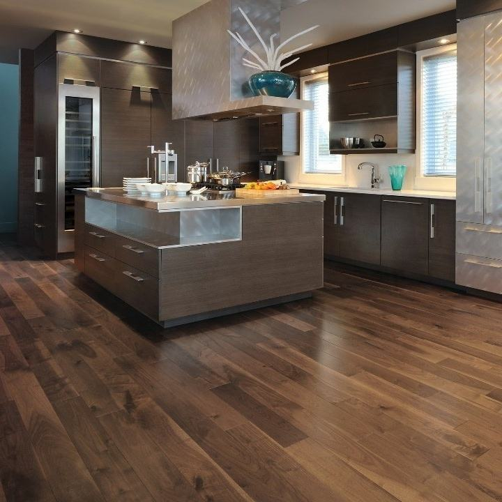 3 layer 189mm /220mm width Smooth American Black Walnut Engineered Solid Flooring