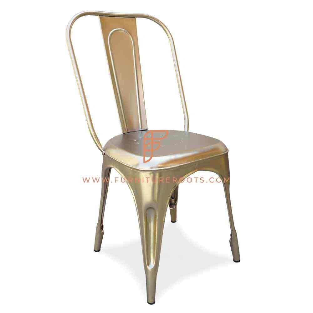 Solid Metal Popular Iron Stack able Chair for Restaurant Canteen Food Court Cafe - Supplier Manufacturer Exporter