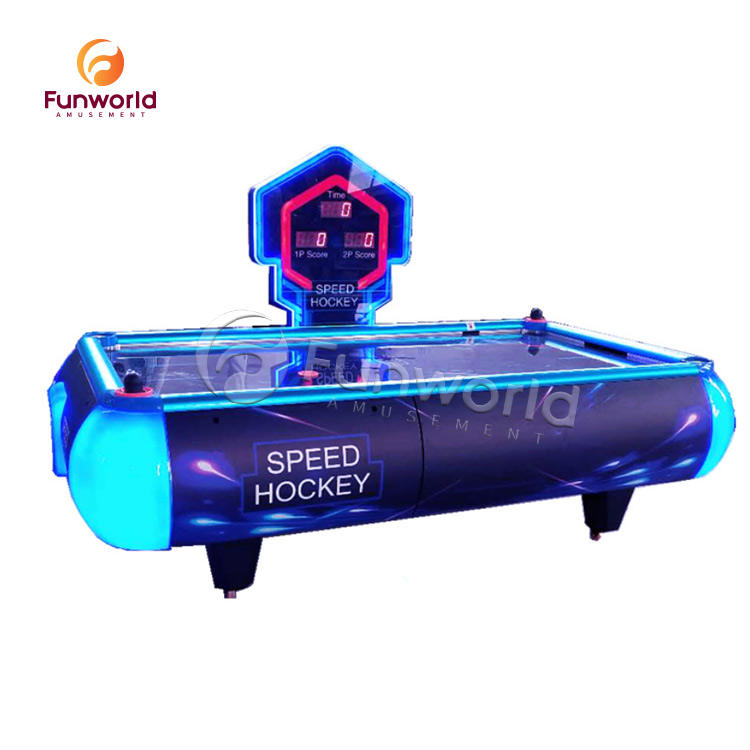 Hot Selling Amusement Luxury Timing Function Table Top Arcade Machine Air Hockey