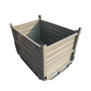 High-quality Stackable And Foldable Storage Box Without Lid,Folding Metal Steel Pallet Box