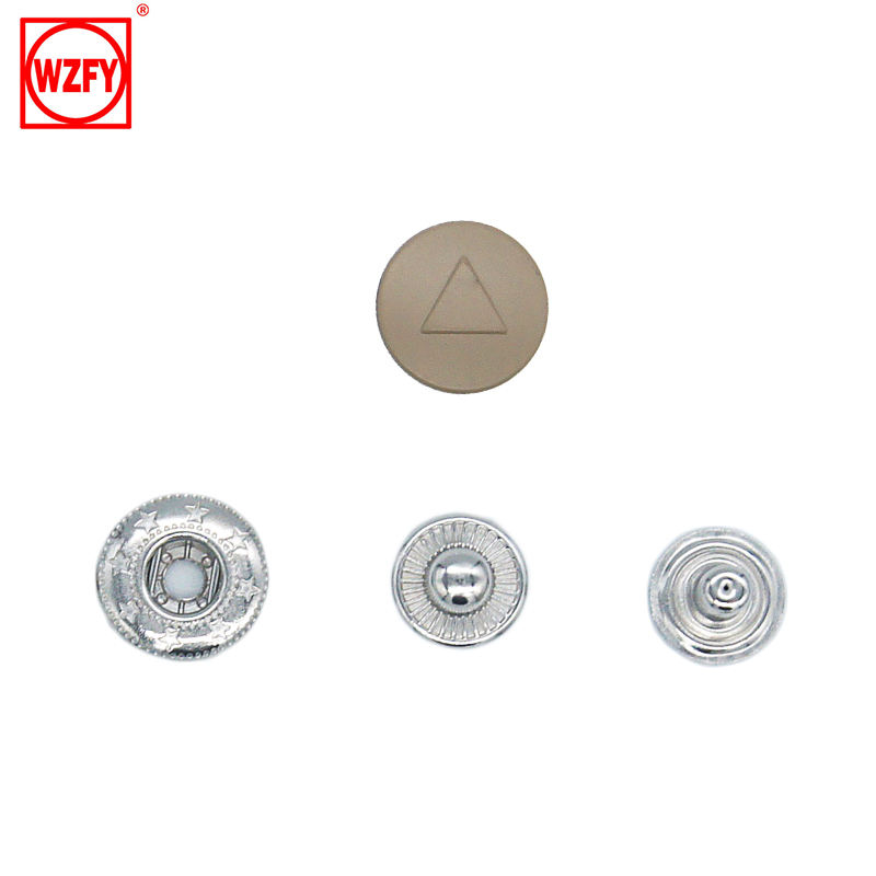 New Style Design Cap 4 Part 15mm Brass Snap Button for Garments