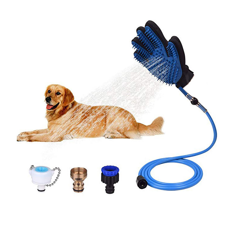 Hair Remover Bathing Tool Dog Shower Sprayer Pet Grooming Gloves