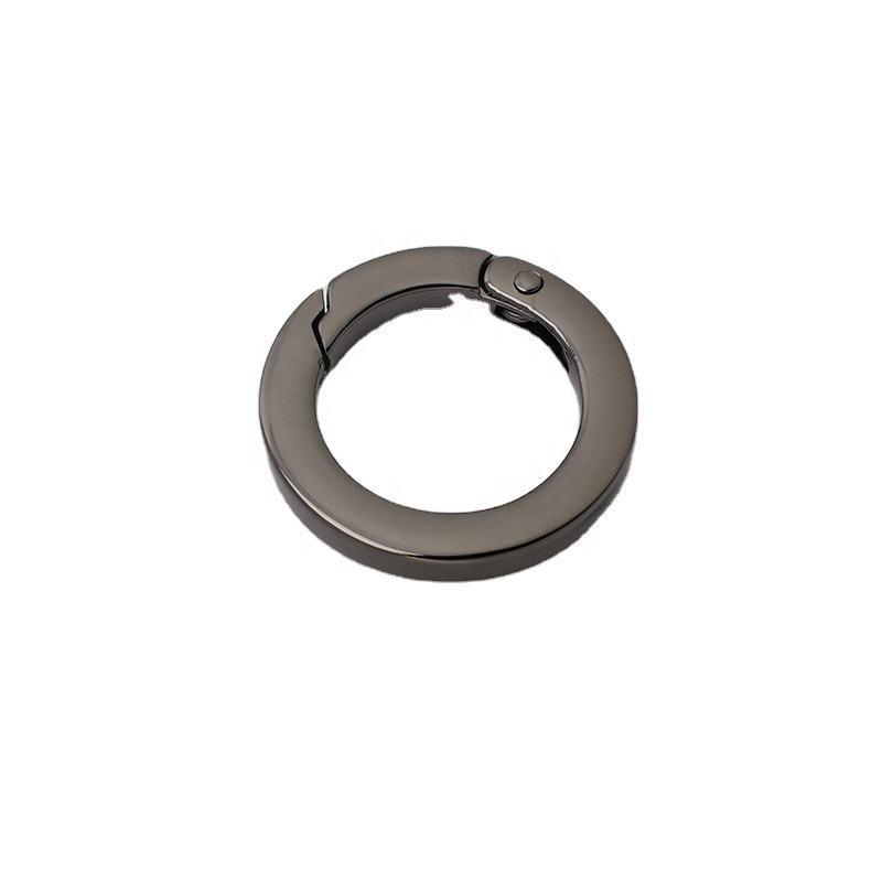 Nolvo World wholesale 4 colors 25*37 32*44 mm metal o ring seals tabular edge cast solid ring buckle
