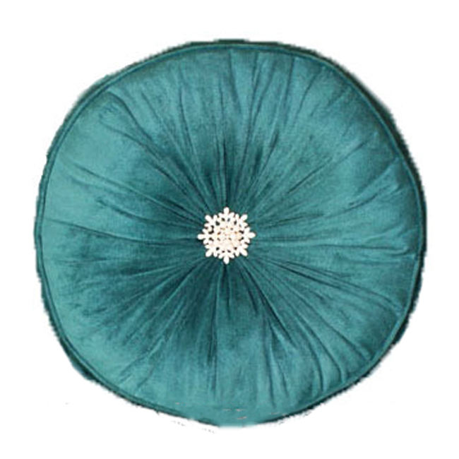 Modern Soft Poly Velvet Round Pillows Home Decor Cushion 100%Polyester In Stock