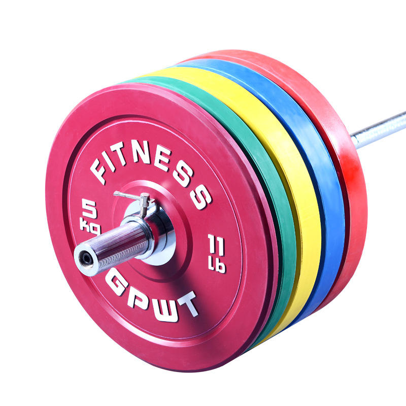 Wholesale hot selling Gym fitness home exercise accessories rubber weight plate barbell bar barbell plate sets