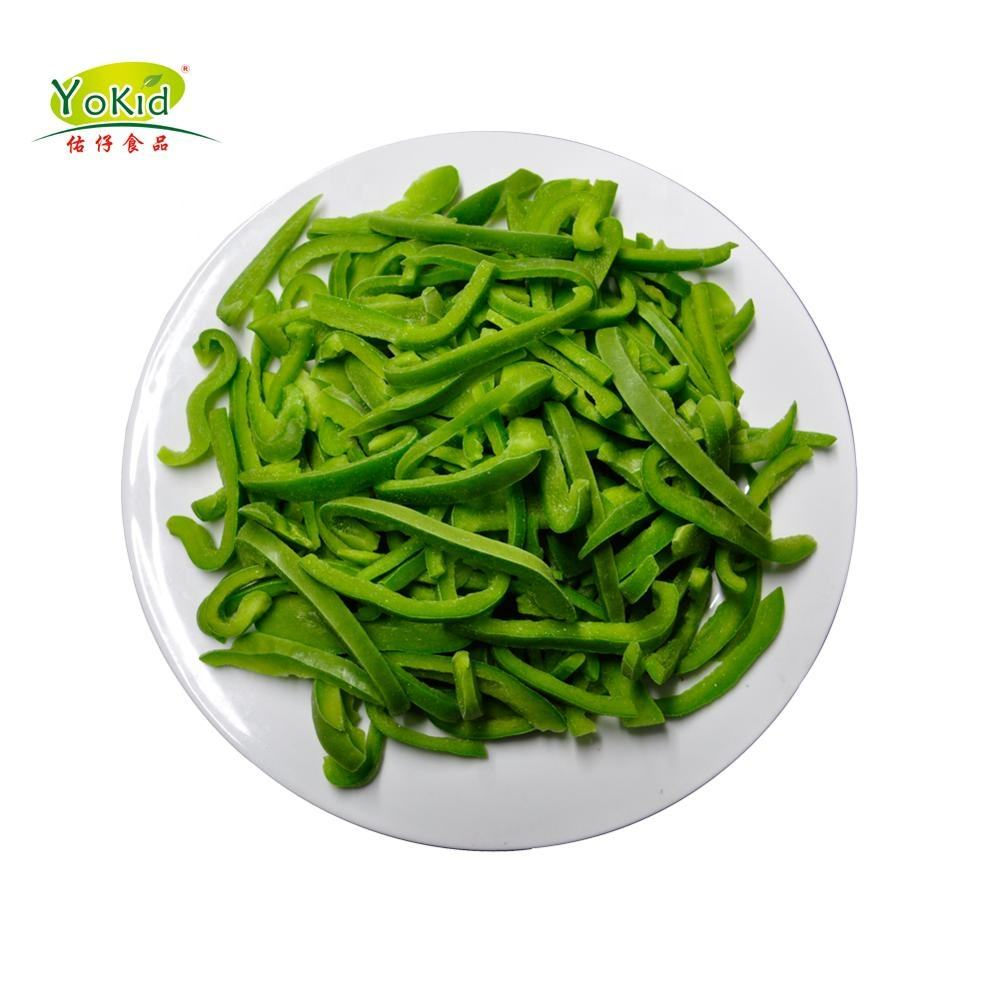 IQF Frozen Green Sweet China Bell Pepper Price