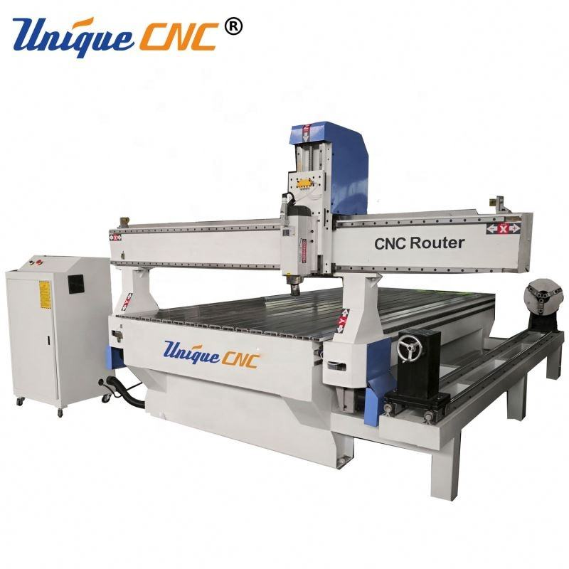4 Axis 3D Rotary Axis Cnc Router Wood Cutting Cnc Router Cnc Wood Machinery