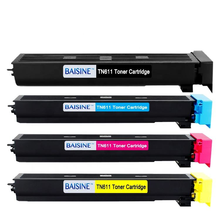 Hot Sale Baisine Compatible for Konica Minolta Bizhub C451 C550 C650 Compatible Toner Cartridge TN611 Toner Cartridge TN-611