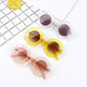 wholesale PC frame Flower retro kids Sunglasses Jelly color