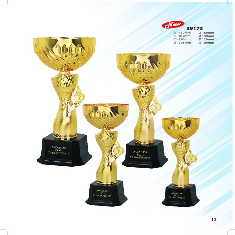 2019 wholesale ready to ship metal sports award trophy trofeos