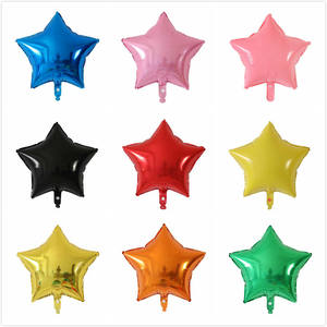 18 inch Candy Kleur Ster Vorm Aluminium Folie Ballon Voor Baby Shower Birthday Party en Decoratie Globos