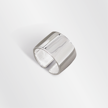 925 sterling silver simple minimum gloss open finger ring