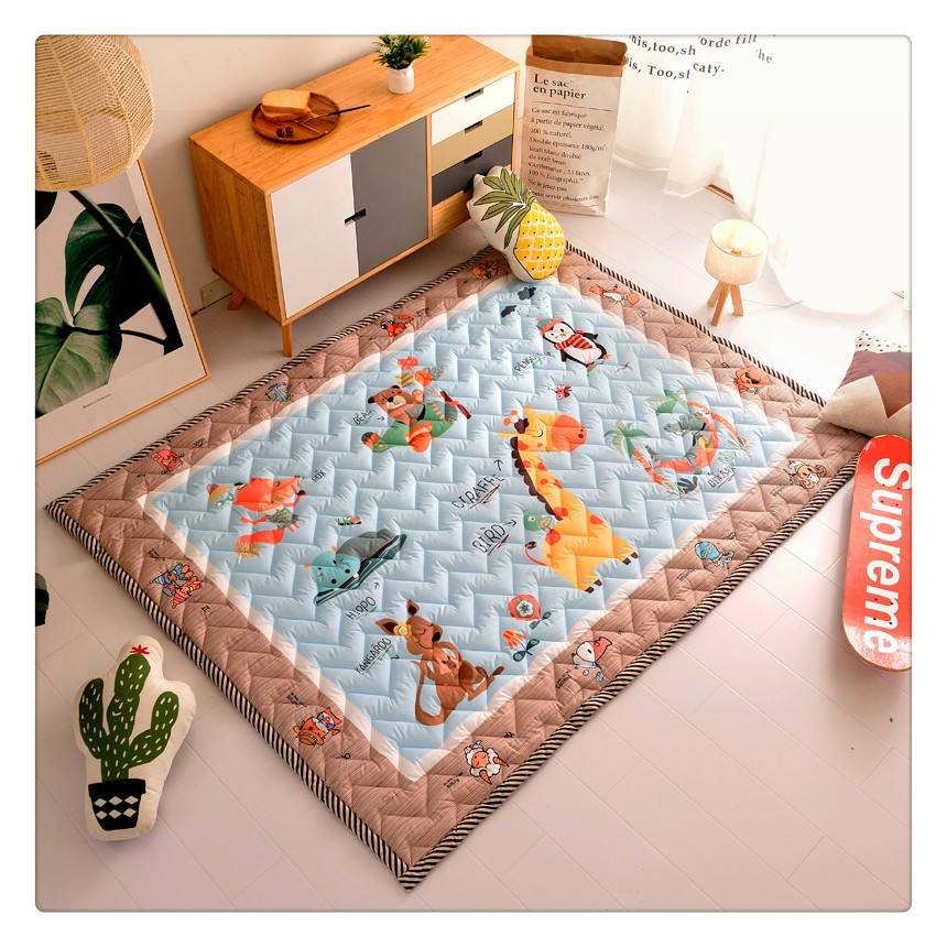 foldable animal activity cartoon baby toys mat kids room carpet