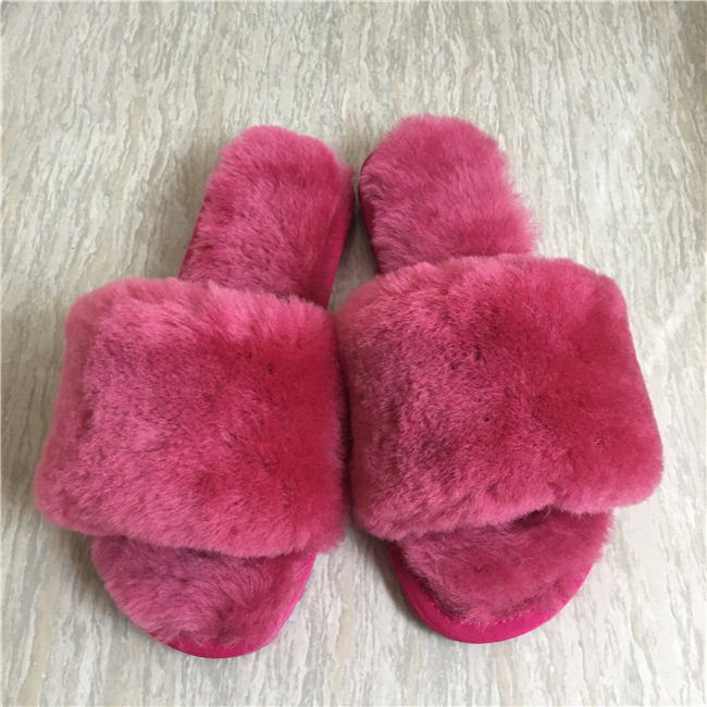 Sheepskin Slippers China Real Fur Warm Slipper Sheepskin Wool Slides
