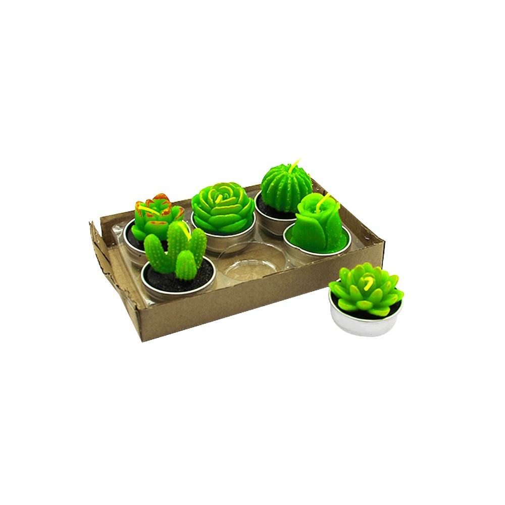 Promotion Gift Scented Plant Tealight Candle For Party and Home Decoration