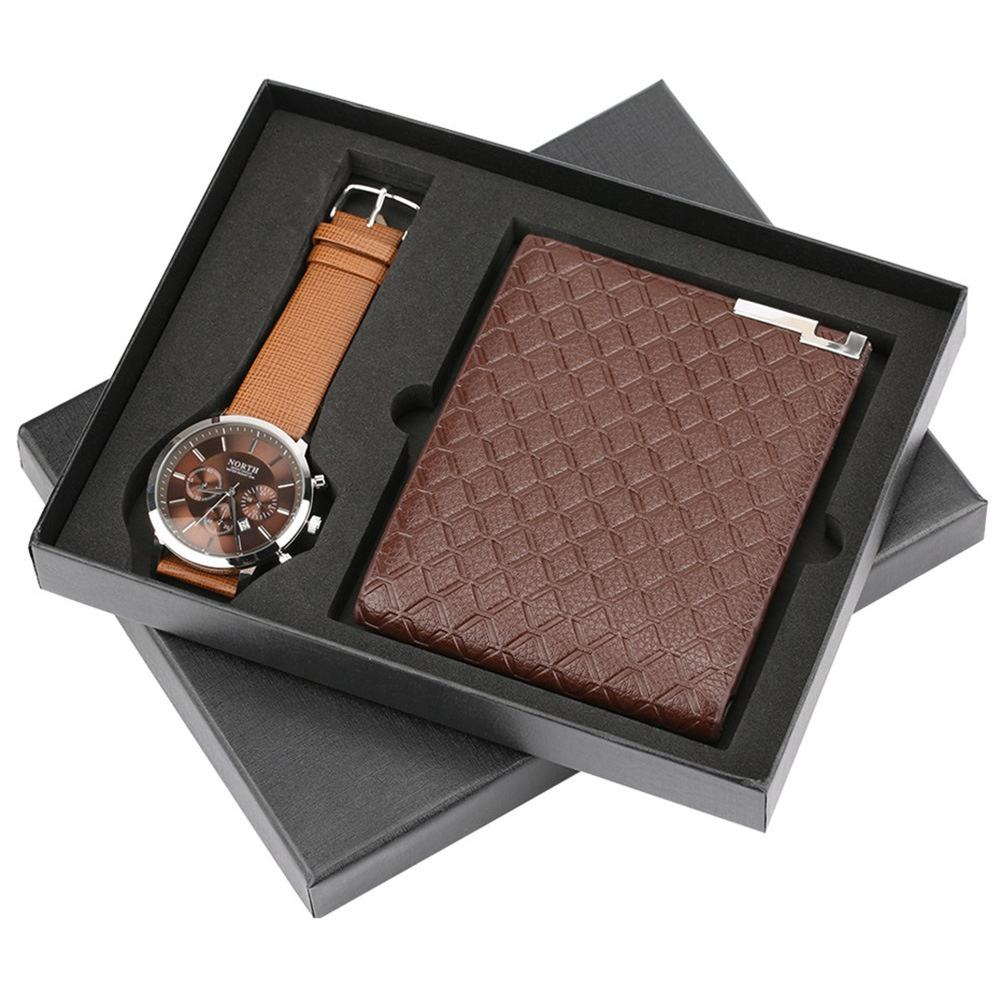Men's exquisite luxury watch wallet two-piece gift creative combination gift for man