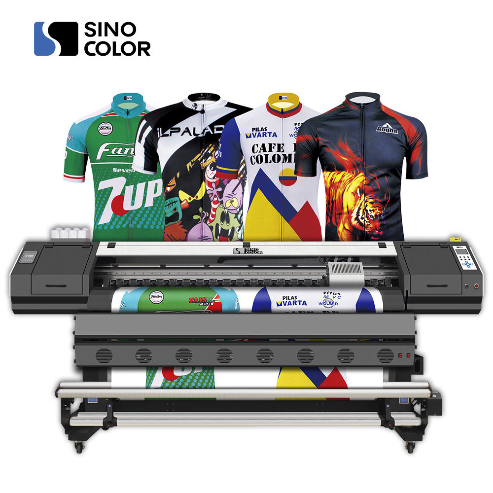 Cina Industri Digital 1.8 M Karpet Selimut Mesin Printer Dye Sublimasi Plotter Printer WJ-740