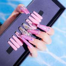 Free Sample Hand-made Ballerina  High Quality Movie Star Nail Design Long Press On False Nails Full Cover