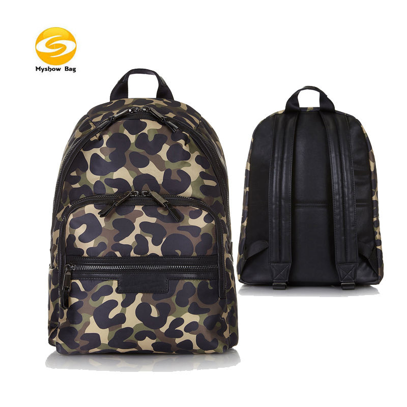 camo waterproof nylon college backpack,printed Backpack 15.6inch Laptop Backpack Travel Business Office Bag Capacity Bookbag