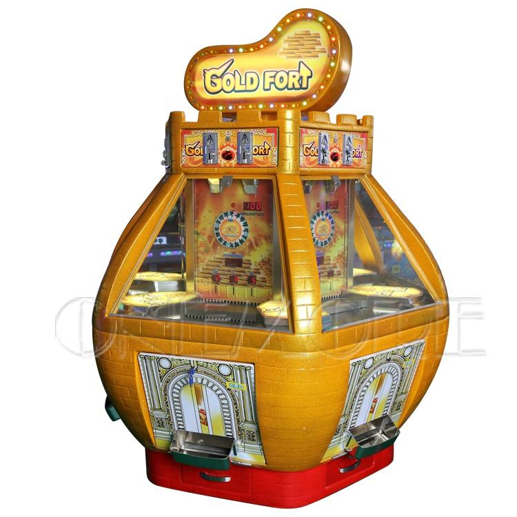 hot sale Gold fort coin pusher, coin dozer game machine