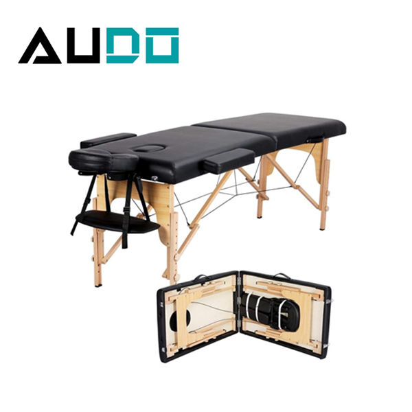 Hot sale Portable collapsible tattoo beauty wooden massage bed spa moxibustion bed massage table