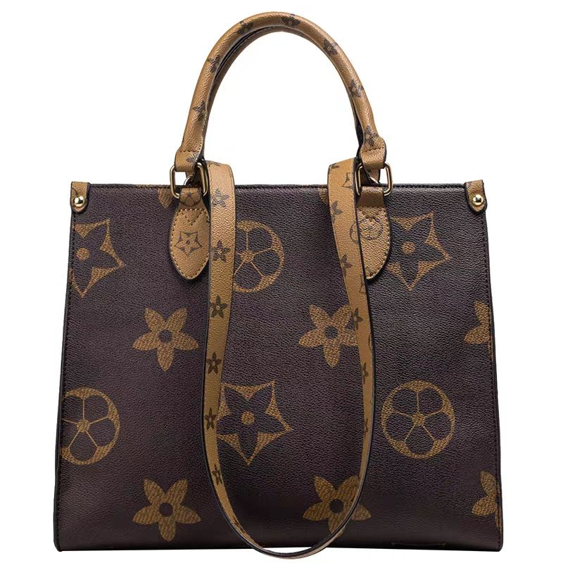 New ladies PU Leather handbag 2019 winter new fashion print shoulder bag