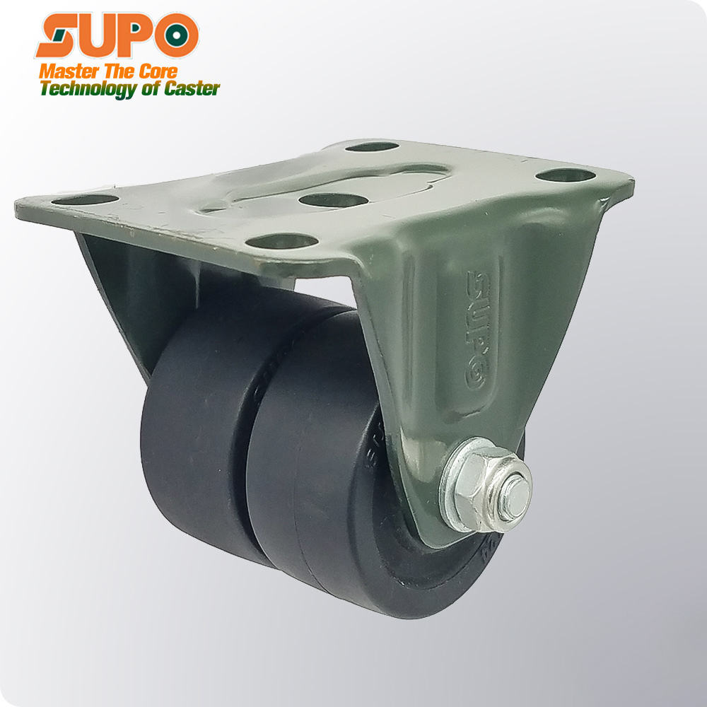 Zhongshan casters high quality 1.6 inch 2 inch 2.5 inch 3 inch heavy Rigid directional low profile double wheel casters