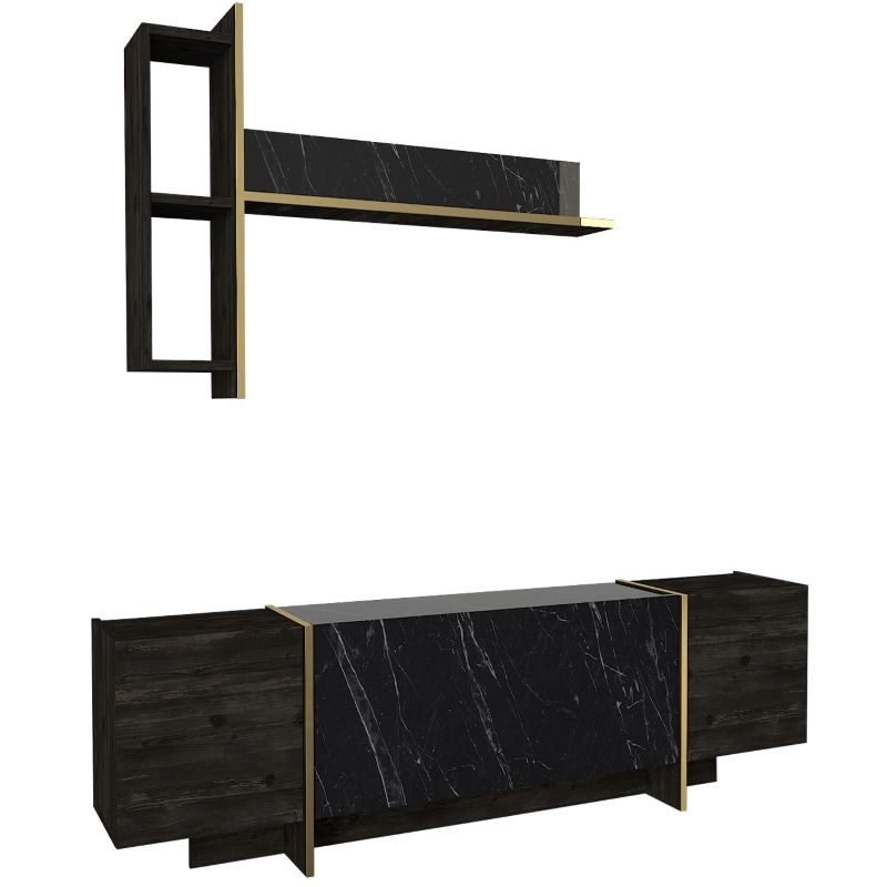 Exclusive Veyron Wholesale Cheap Price Wood Tv Stand Modern Furniture Rebab Marble