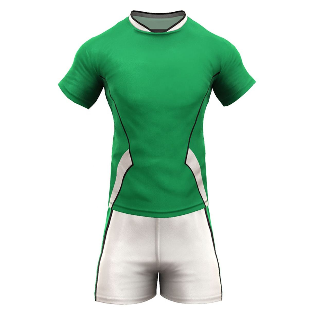 Sublimation Custom Design Kits Rugby Jersey Wear Uniform shirt and shorts in polyester sublimated