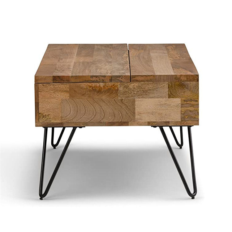 Simple home rectangle industrial contemporary lovely mango wood coffee table