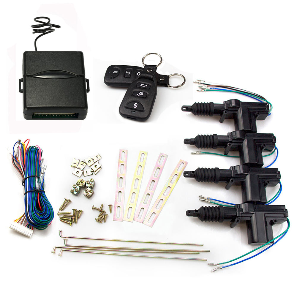 Universal 2 Wire 12V Car Motor Heavy Duty Power Slave Door Lock Actuator with Parts Auto Central Lock Control Locking System Kit