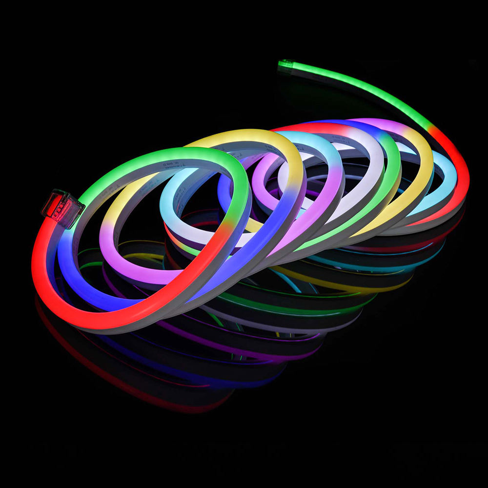Indoor and outdoor hello led neon SMD5050 flex manufacturer neon flexible hose light 50m 15x26mm Pixel