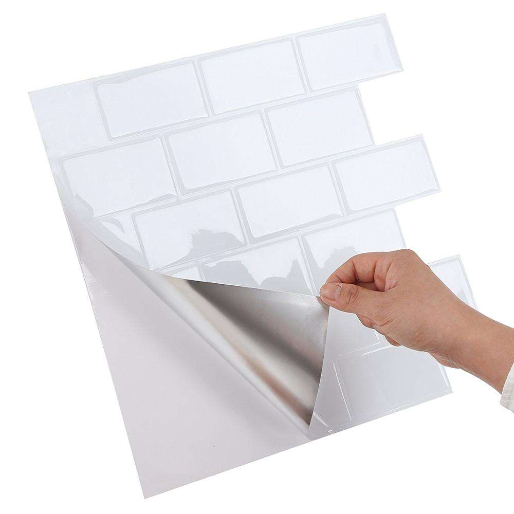 USA Backsplash Tiles Instant Stick on Wall Peel and Stick 12*12 Inch Subway Wall Tile Home Decor