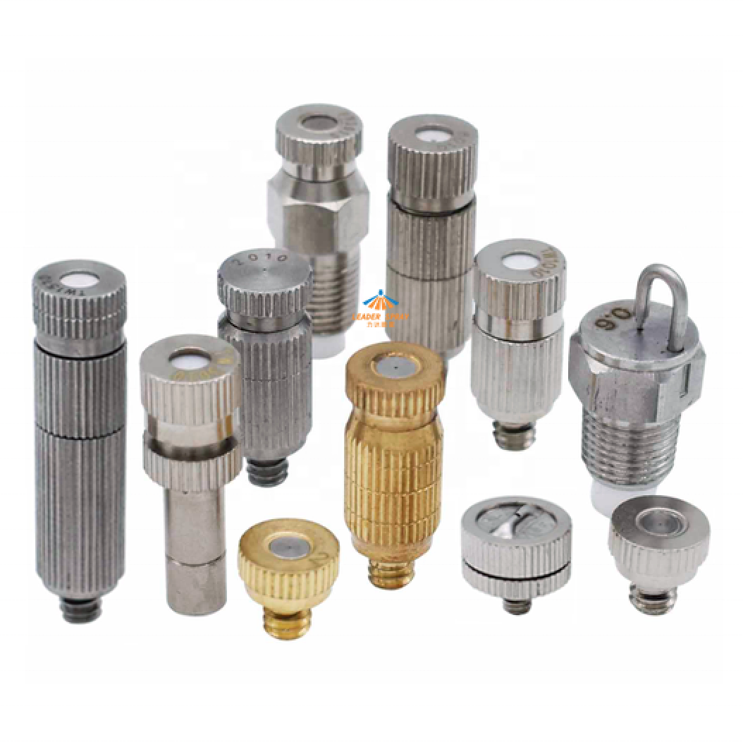 Stainless steel/brass plated high pressure fog nozzle low pressure anti-drop jet spray fine mist/fog nozzle
