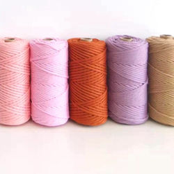 High quality 3mm macrame rope cotton ropes single strand cotton rope