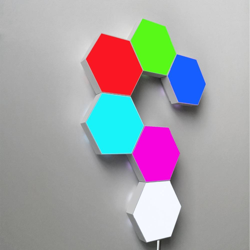 Nieuw product idee 2020 Home Panel Licht Modulaire Touch Gevoelige Wandlamp magnetische modulaire touch lamp hexagon led licht