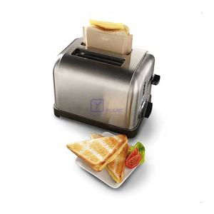 2 pcs sandwich grilled cheese toasts reusable oven microwave non-stick PTFE toaster bag