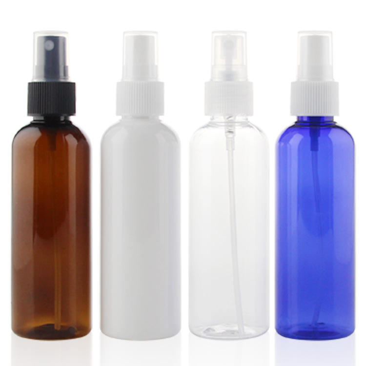 Empty fine mist PET 30ml 50ml 100ml 120ml 150ml 200ml 250ml 500ml amber white clear plastic spray bottle for cosmetic packaging