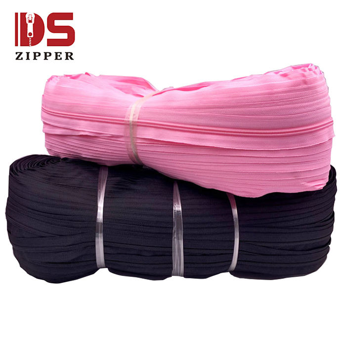 Wholesale nylon roll zipper yards sales best price for inventory