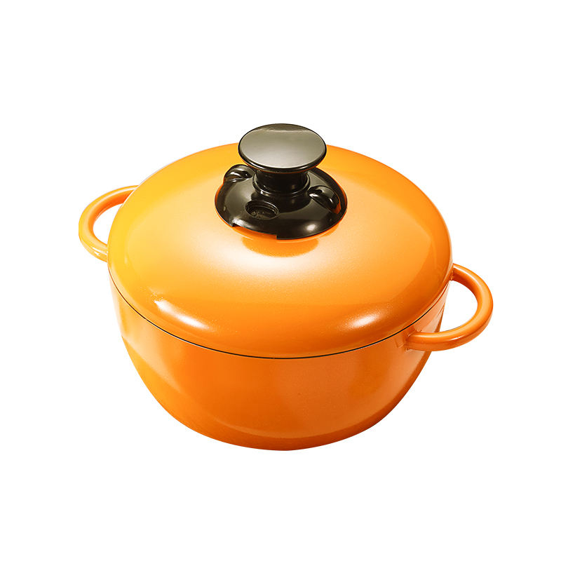 24cm Rotatable Aluminum Alloy Non-stick Cookware Set Kitchen Hot Pot Soup Anhydrous shallow Soup Pot