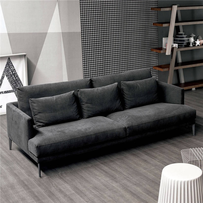 modern minimalist latex fabric sofa small apartment living room down fabric sofa removable and washable